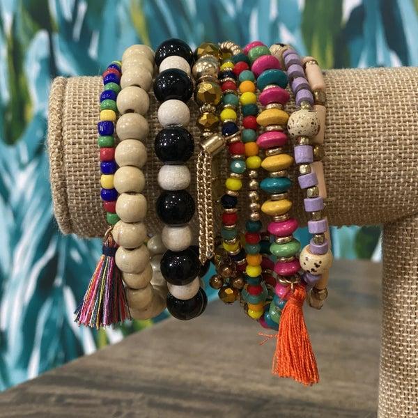 Boho Rainbow Bracelet Set