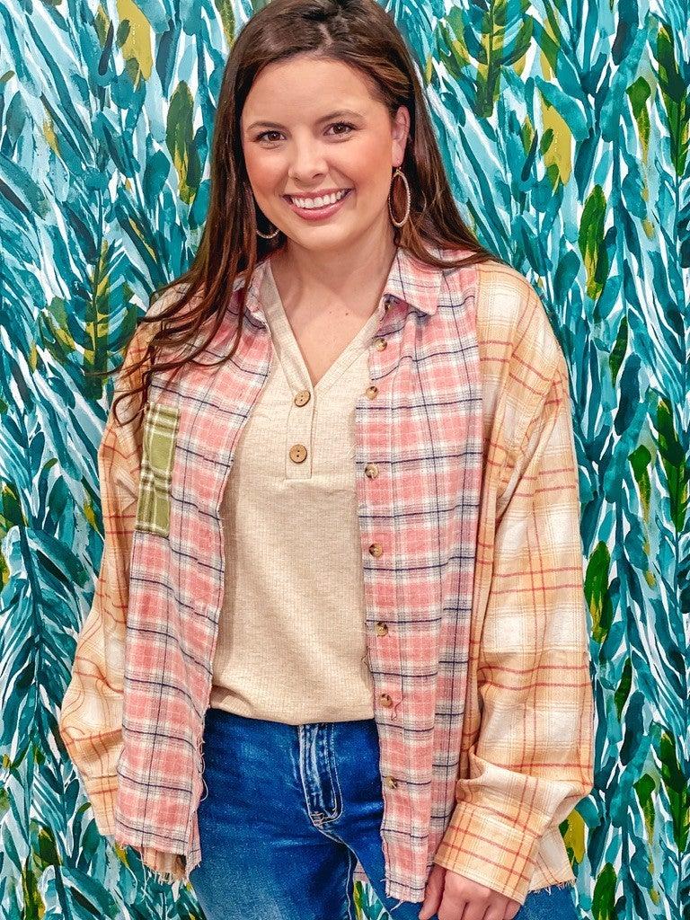 "Papermoon ""Jessica"" Patchwork Button-Up Shirt *Final Sale*"