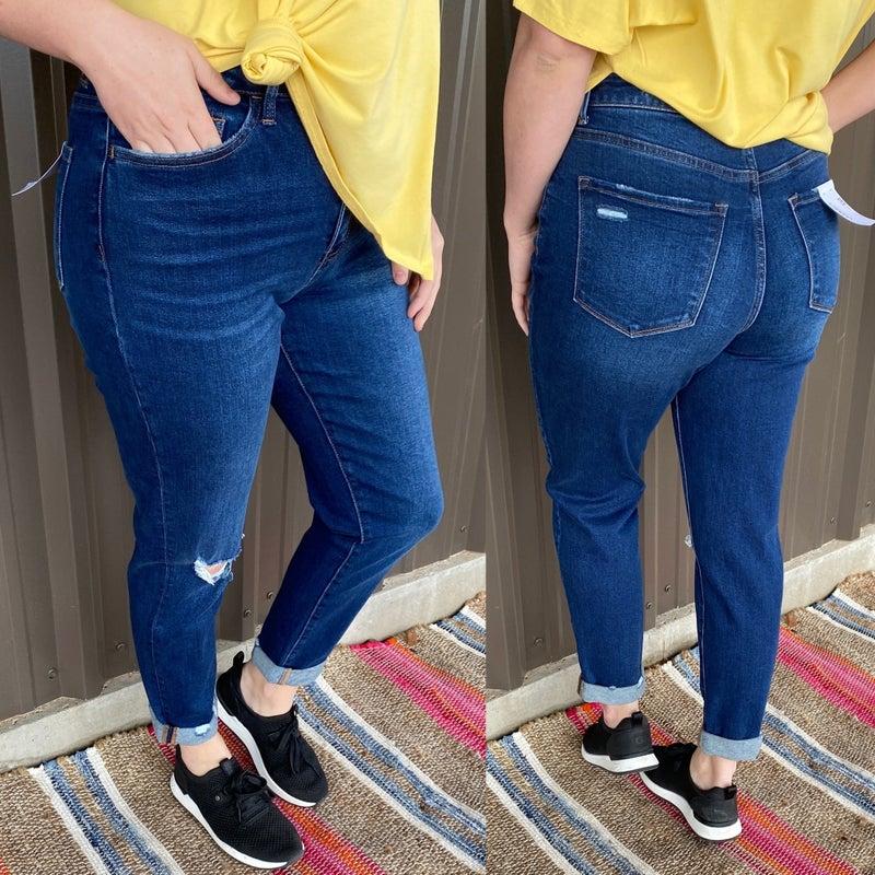 "Vervet Erika ""Modern Love"" Distressed Cuffed Mom Jeans *Final Sale*"