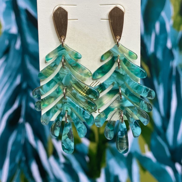 Marbled Palm Earrings