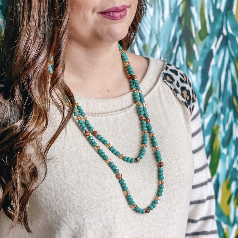 Emma Turquoise Beaded Strand Necklace *Final Sale*