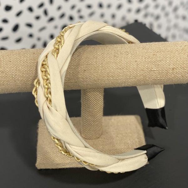 Beige Chained Headband