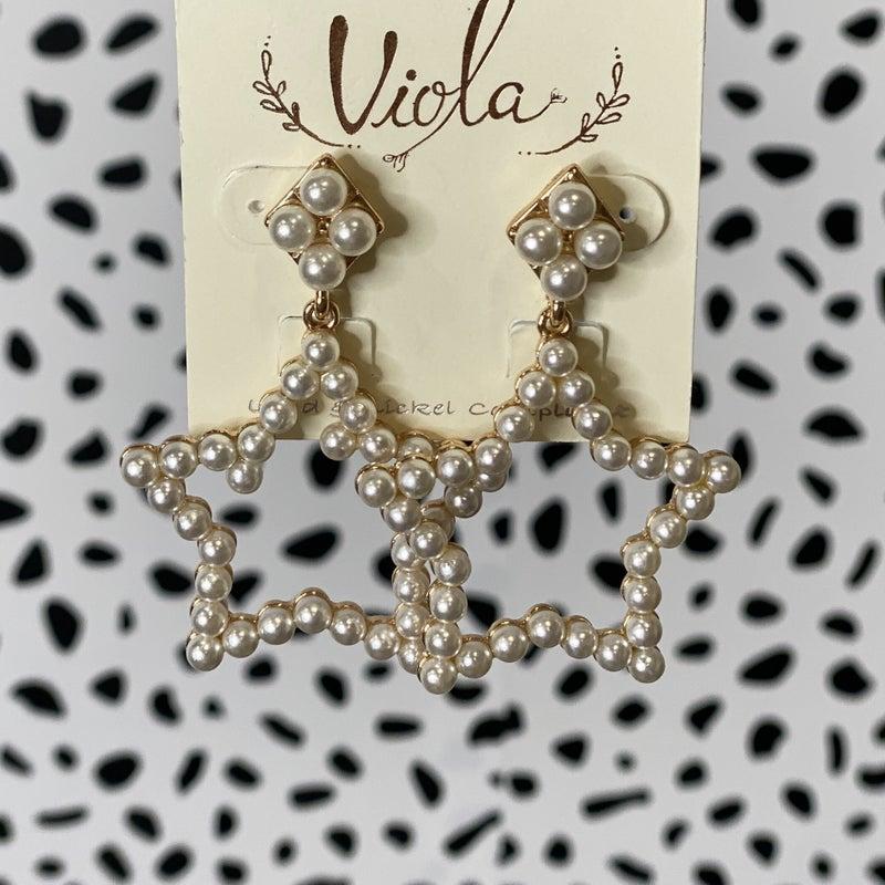 Pearl Star Earrings