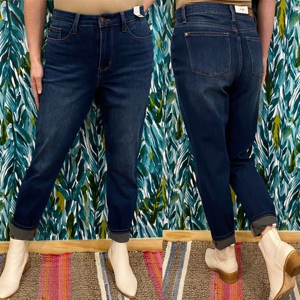 Reg/Plus Judy Blue 8207 Therma Denim Boyfriend jeans *Final Sale*