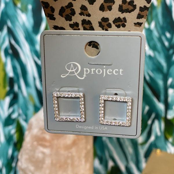 Square Diamond Earings