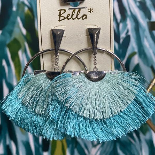 Boho Turquoise Fanned Earrings