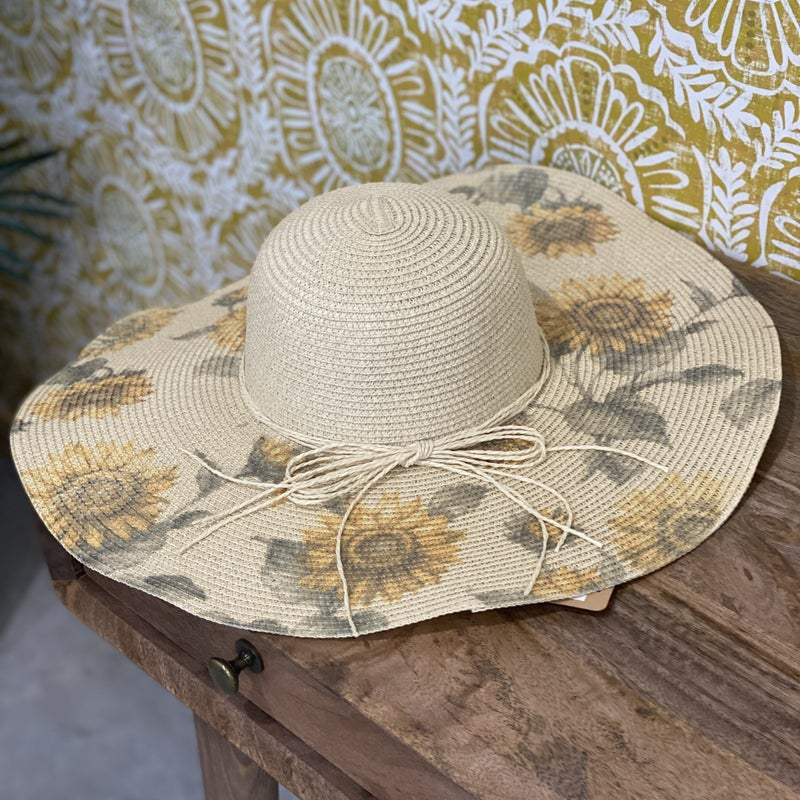 Sunflower Floppy Straw Hat