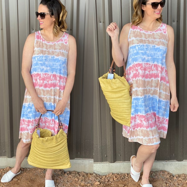 Bom Bom Tie Dye Tank Dress