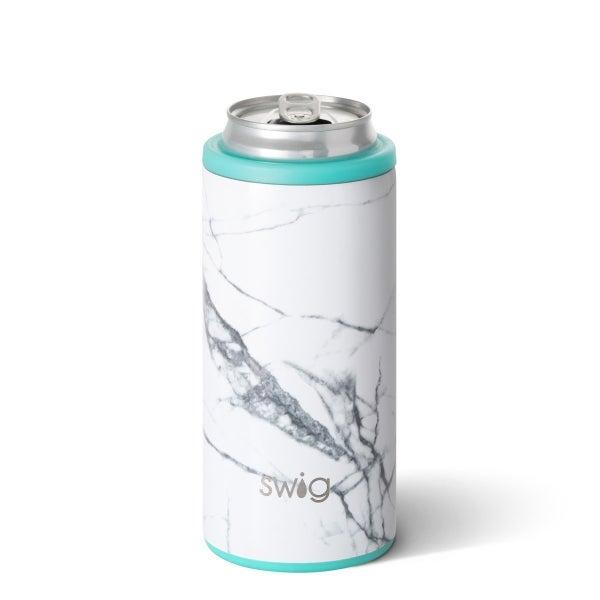 SWIG White Marble Slim 12oz *Final Sale*