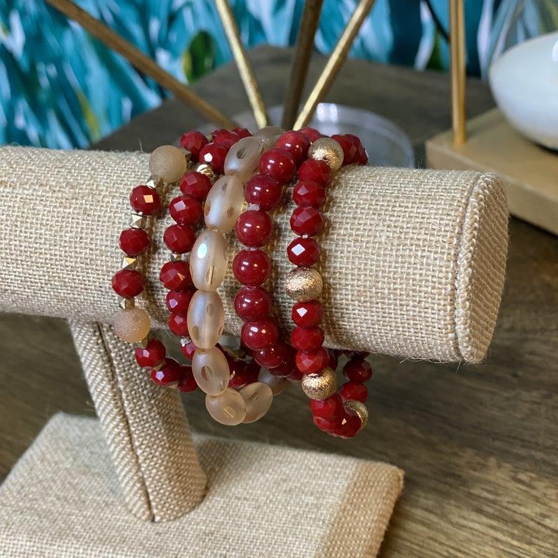 EmmaRed Stacked Bracelet Set *Final Sale*