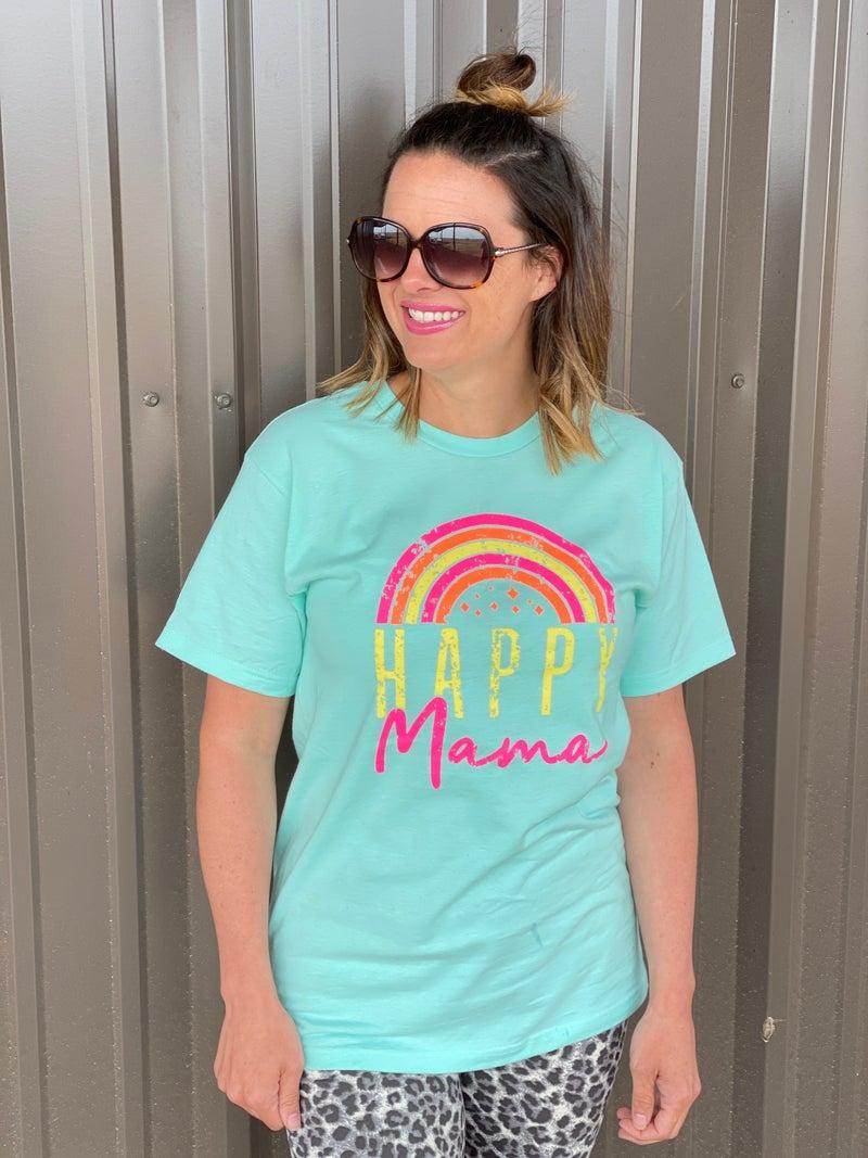 "Mint ""Happy Mama"" Tee"