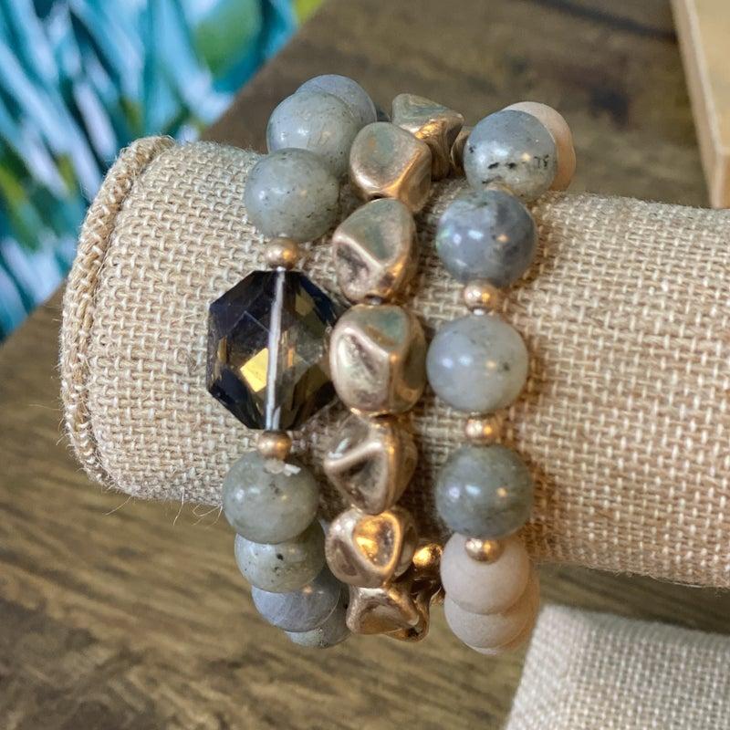 Natural Jade Stone Bracelet Set