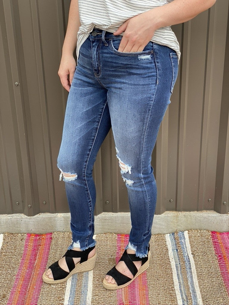 "Vervet Amber ""Found You""  Distressed Cuffed Jeans"