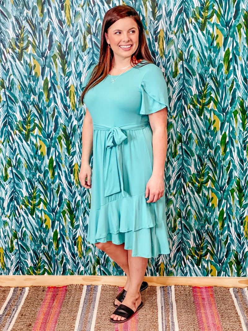 RJ Teal Dress