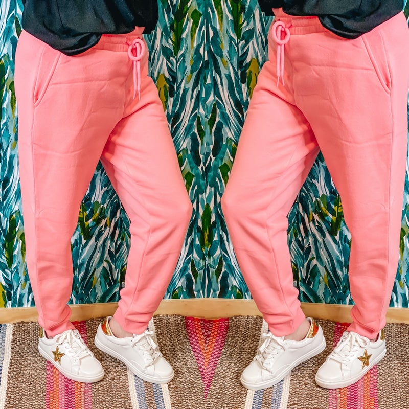 Zenana Pink Relaxed Fit Jogger Pants