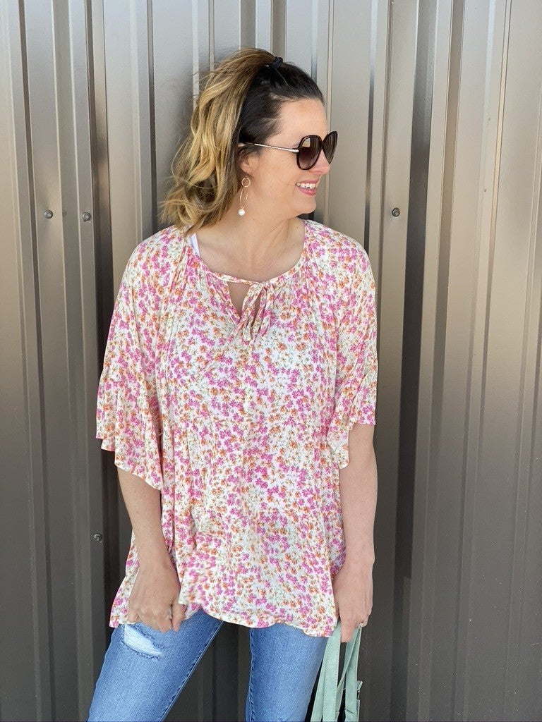 143 Story Ditzy Floral Tiered Top *Final Sale*