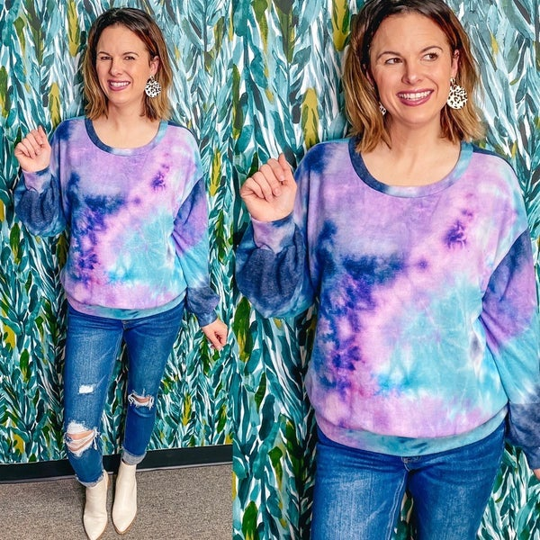 Together Midnight Tie Dye Pullover *Final Sale*