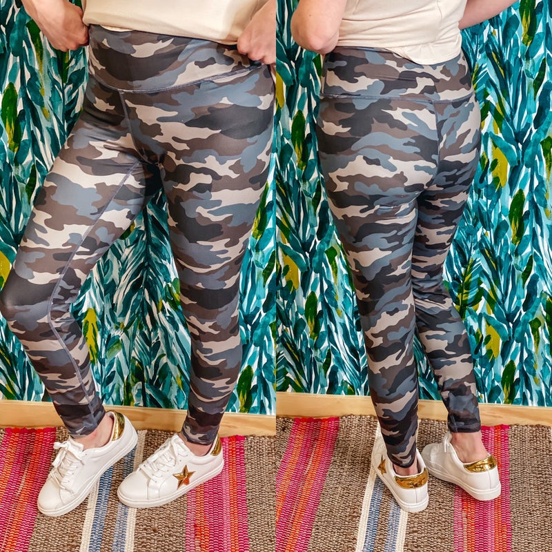 Rae Mode Gray/Blue Camo Leggings