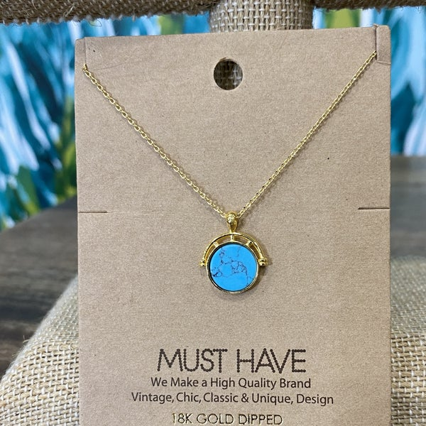 Simple Gold Globe Necklace