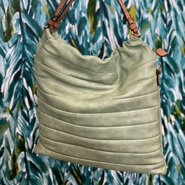 Calin Scrunched Hobo Bag Sage