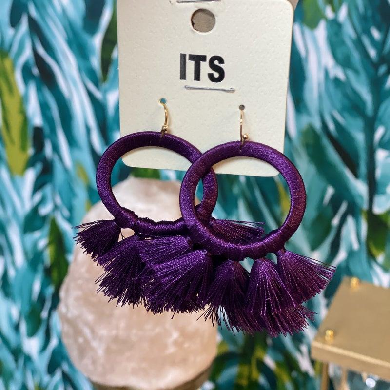 Purple Tassel Earring *Final Sale*