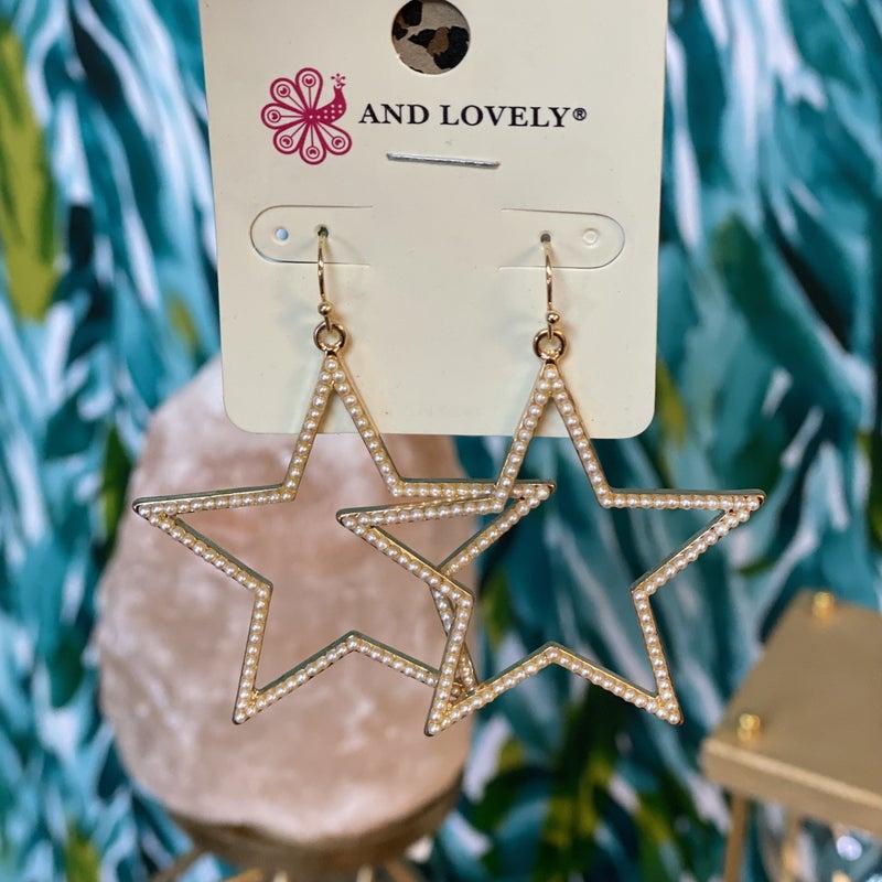 Pear Star Earrings