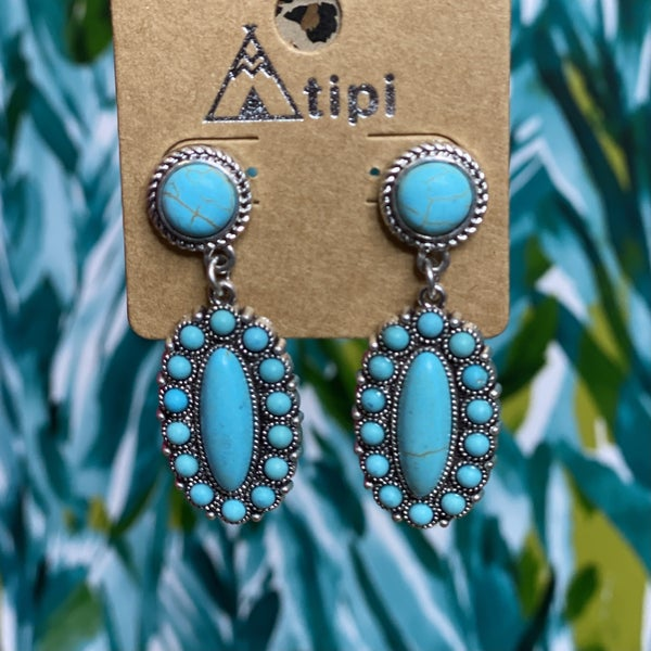 Classic Turquoise Western Earring