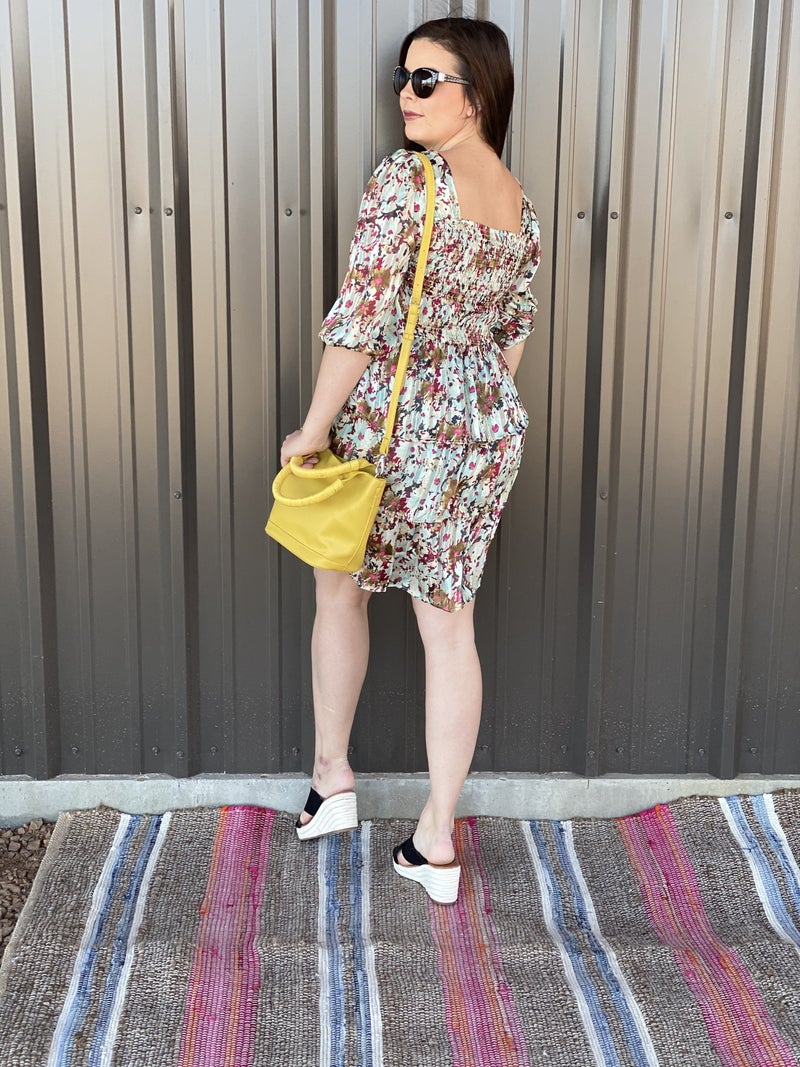 Oddi Mint Floral Smocked Tiered Dress *Final Sale*
