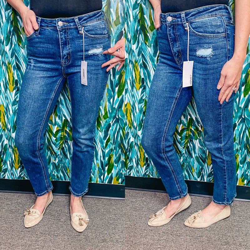 "Vervet Jeanne ""Slow Boat"" High Rise Crop Straight Jeans *Final Sale*"