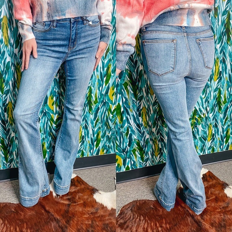 Judy Blue 2163 Mid Rise Flare Jeans *Final Sale*