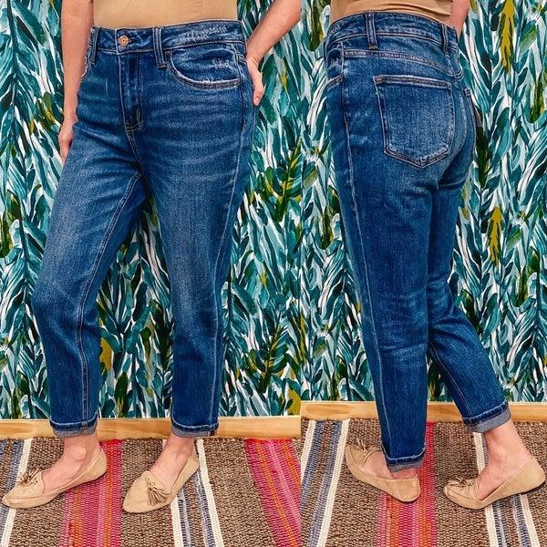 """Vervet Skeeter """" Fremont"""" Cuffed Boyfriend Jeans *Final Sale*"""