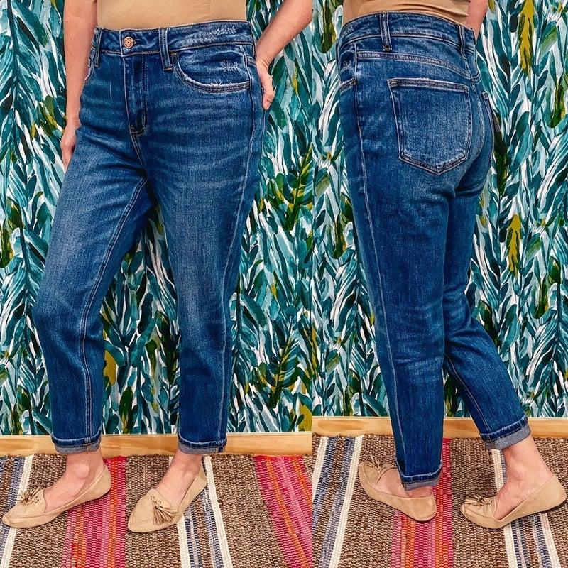 "Vervet Skeeter "" Fremont"" Cuffed Boyfriend Jeans"