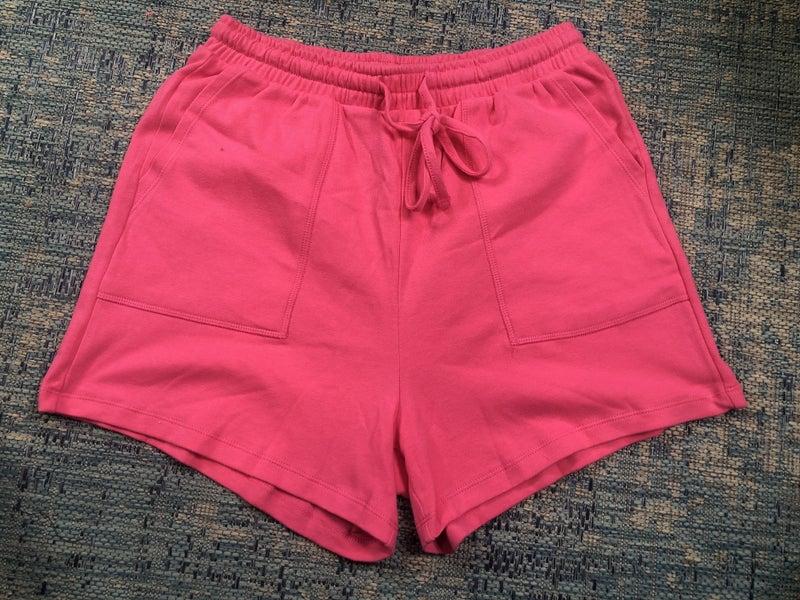 Zenana Hot Pink Drawstring Waist Shorts with Pockets
