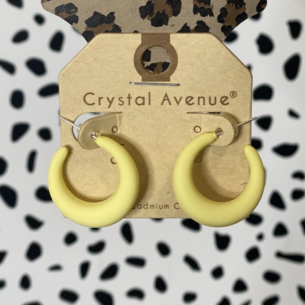 Soft Clay Hoops - Yellow