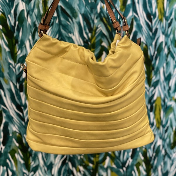 Calin Scrunched Hobo Bag Yellow