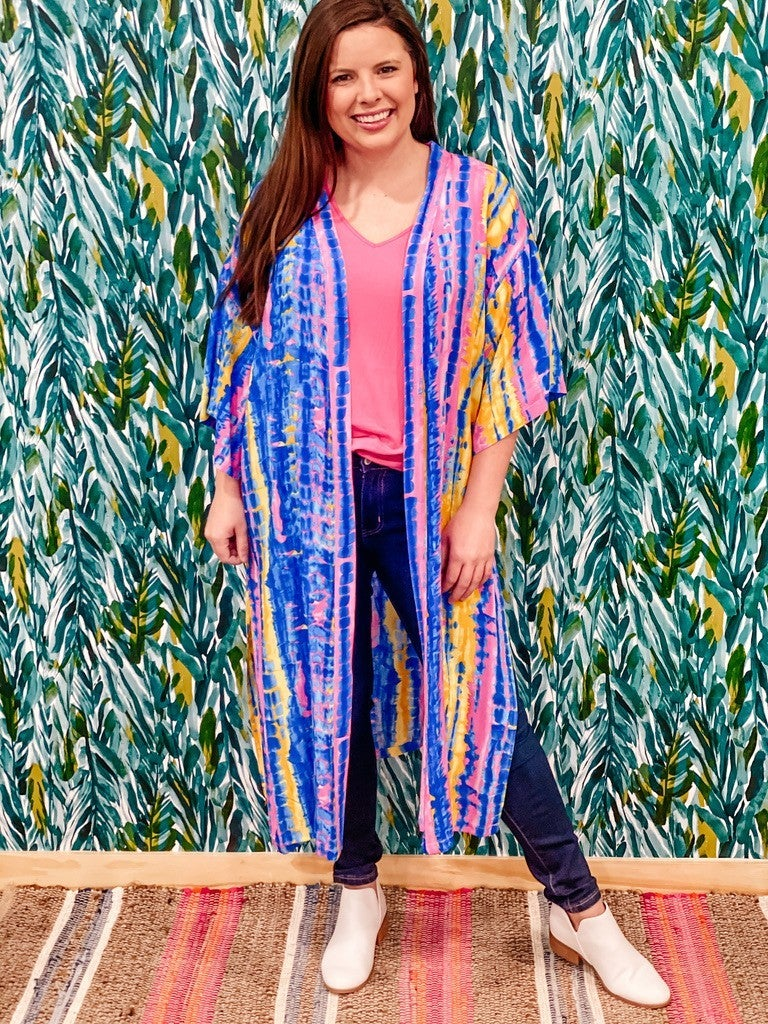 One Size S&R Watercolor Duster