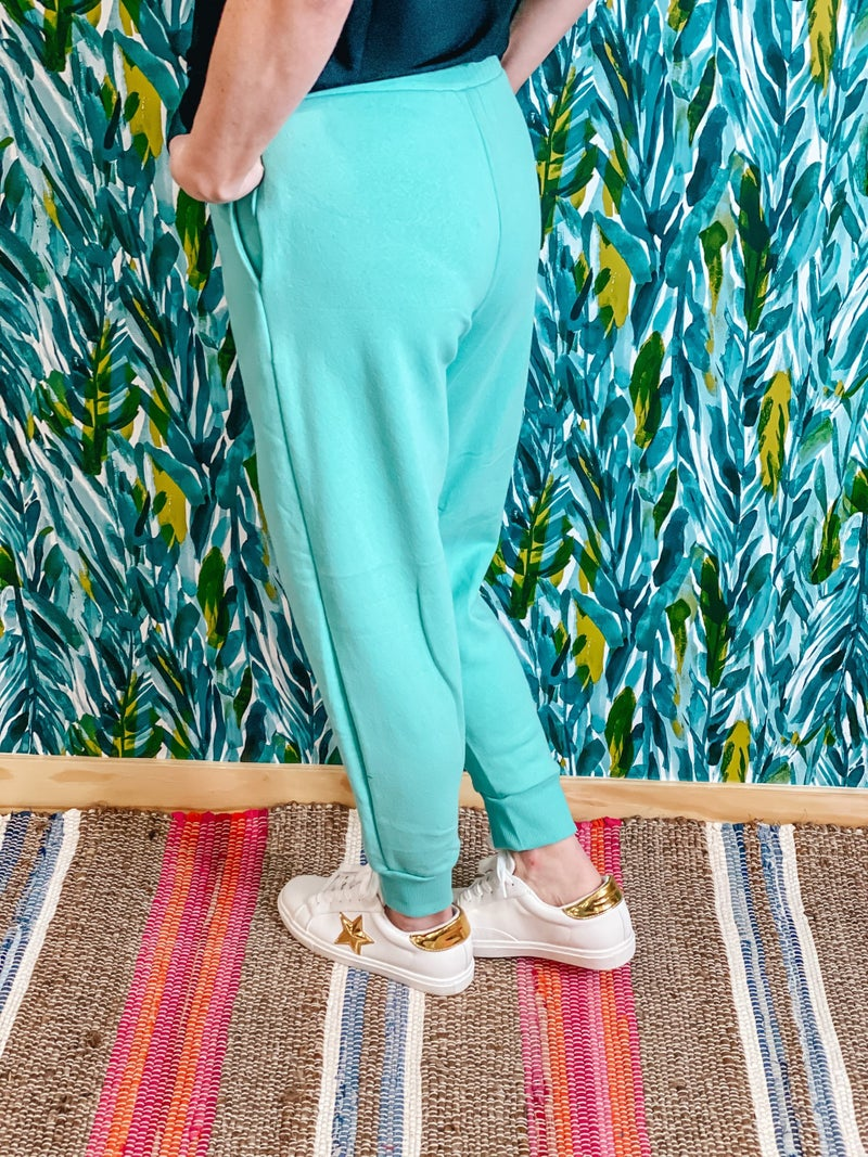 Zenana Mint Relaxed Fit Joggers