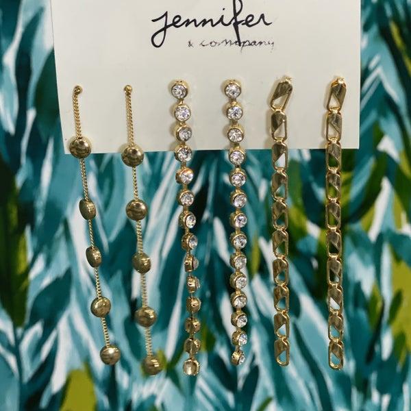 Set of 3 Unique Dangle Earrings