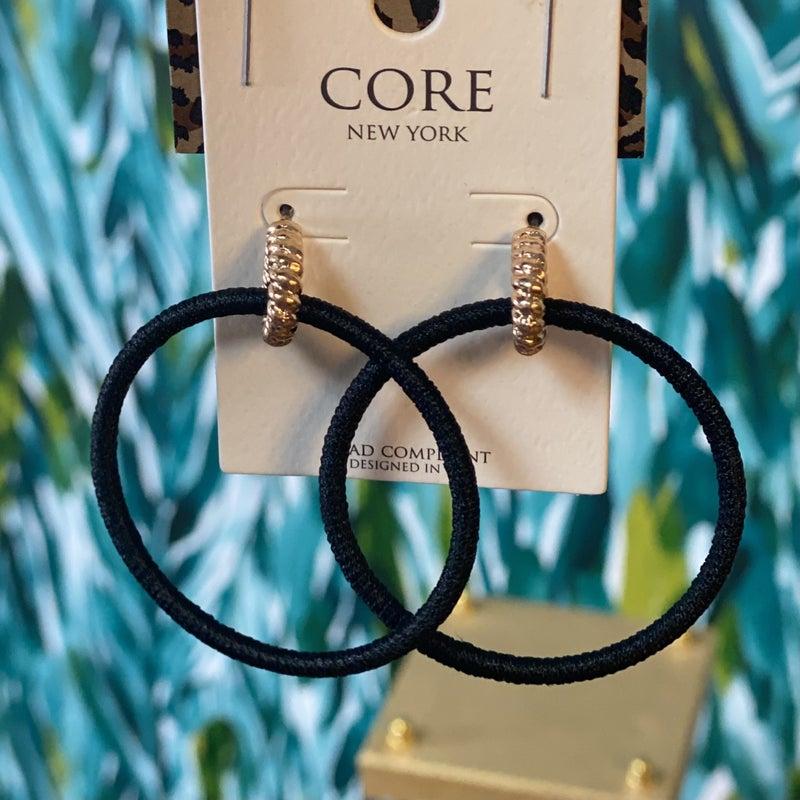 Core Black Wrapped Hoops *Final Sale*