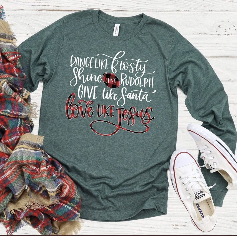 LOVE LIKE JESUS CHRISTMAS SHIRT