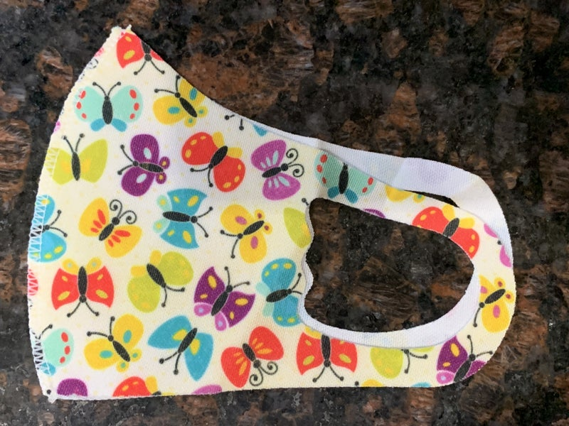 KIDS YOUTH BUTTERFLY FACE MASK