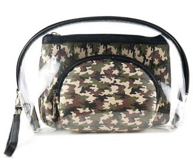 3 PIECE CLEAR COSMETIC POUCHES