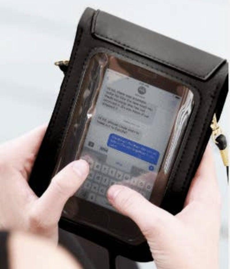 CELL PHONE TASSEL TOUCH SCREEN CROSSBODY
