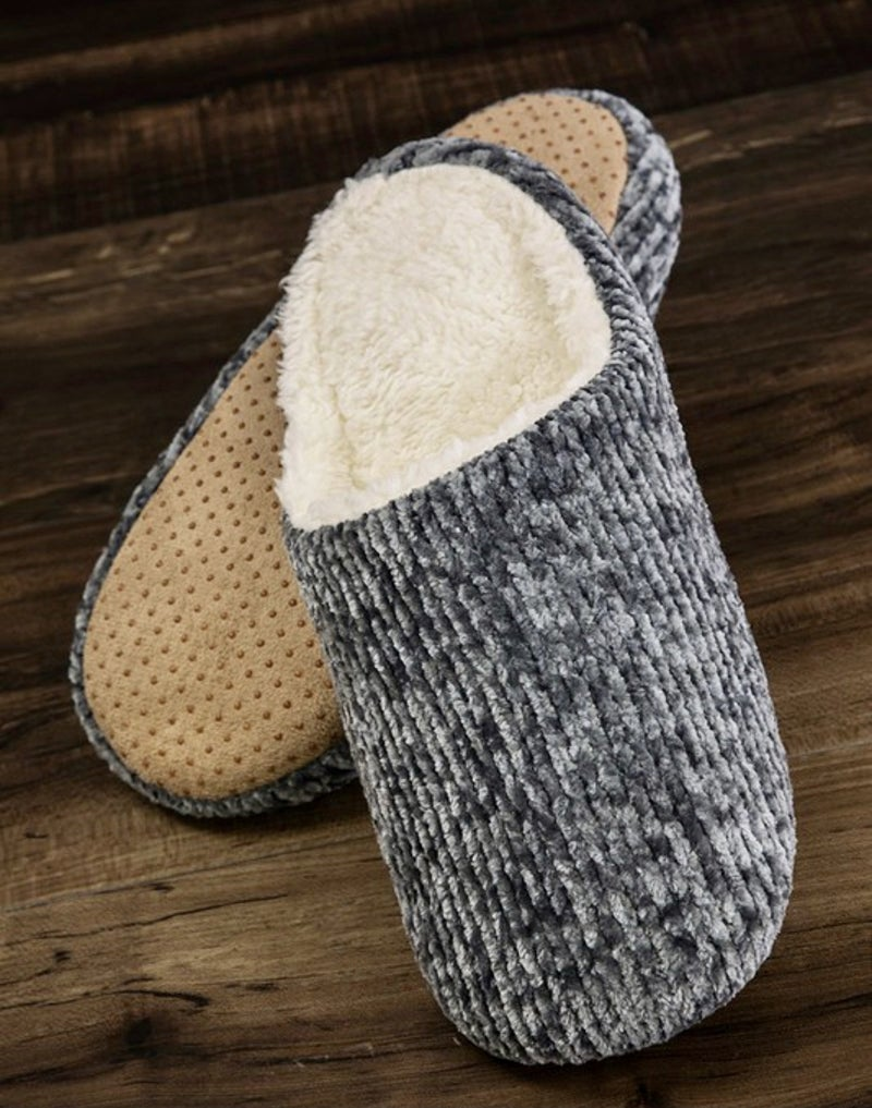 CHENILLE CLOSED TOE SLIPPERS