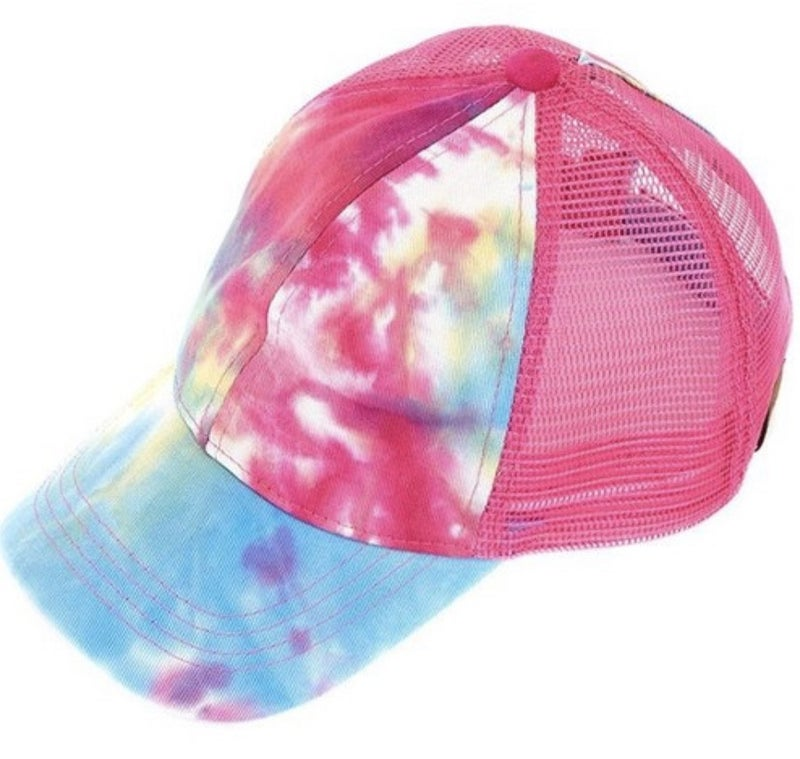 CC TIE DYE MESH BACK PONYTAIL HAT