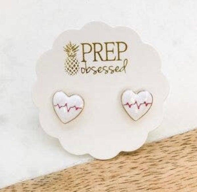 PREP OBSESSED POST EARRINGS