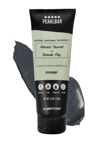 CHARCOAL WHITENING TOOTHPASTE & BAMBOO TOOTHBRUSH