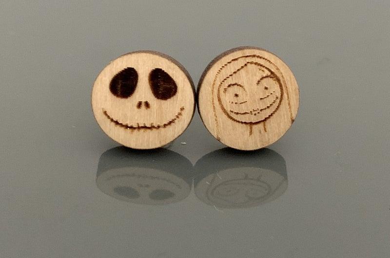 JACK & SALLY WOODEN POST EARRINGS