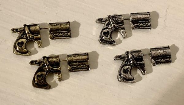 ANTIQUE GUN JACKET EARRINGS