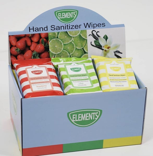 SCENTED HAND SANITIZER WIPES